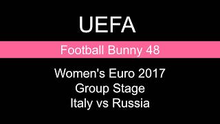 Score and Goal Highlights - Women's Euro 2017 Group Stage - Italy vs Russia