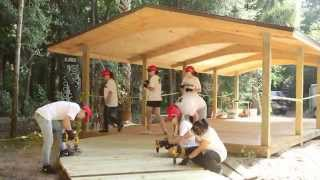 Disney Cruise Line VoluntEARS Lend a Hand to Build a Boardwalk