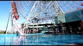Vanish rollercoaster in the water Yokohama Japan HD