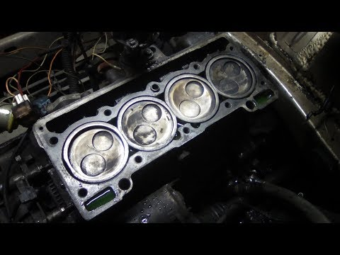 Замена поршневых колец не снимая двигатель.