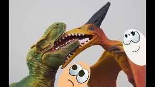 КРОВОЖЕРЛИВИЙ ТІ-РЕКС І БІЙ ПТЕРАДОНТА! ЯЙЦЕ ДРАКОНА! Мультики про динозаврів