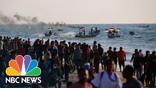 Palestinians Protest Gaza Blockade On Land And Sea | NBC News