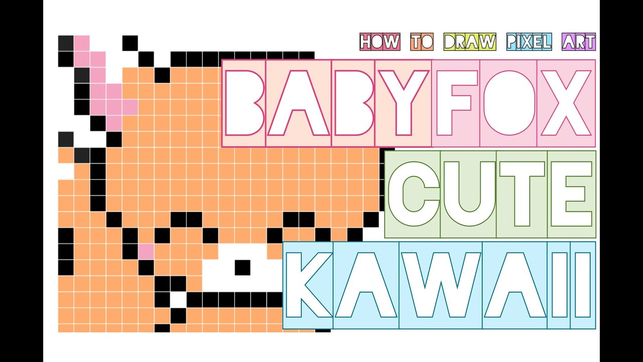 How To Draw Cute Baby Fox Kawaii Easy Step By Step Doodle Pixel Art Perler Beads