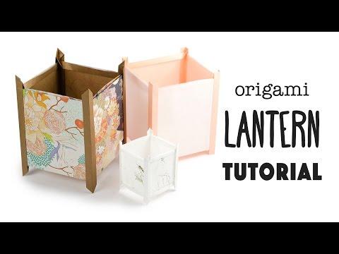 Origami Paper Lantern Tutorial - Japanese Andon Lamp 行灯 - Paper Kawaii