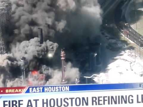 Fire At Lyondellbasell Plant  In Houston