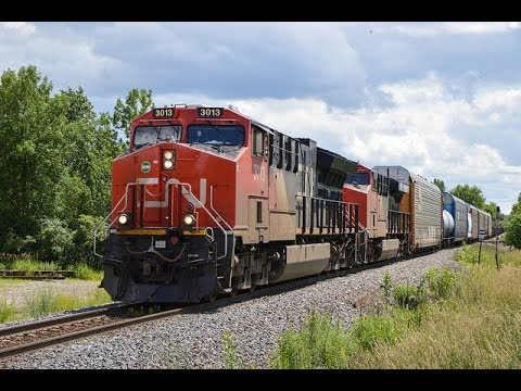 HUGE CN CP Amtrak Trains in Milwaukee Plus Private cars and Oversized Load!