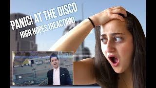 Panic! At The Disco - High Hopes (Official Video) [REACTION]