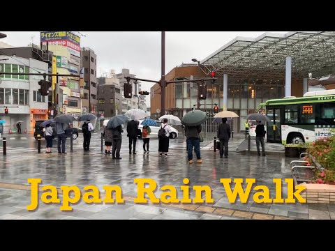 Japan Heavy Rain Walk 2019.05.21 Home Work Tokyo Suburb Storm Relaxation Meditation by tkviper.com