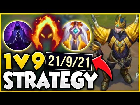 INSANE 1V9 CARRY JARVAN STRATEGY! (100% EASY WIN STRATEGY) - League of Legends