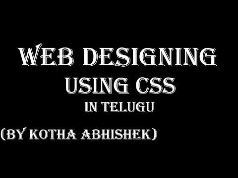 A Basic Web Page Development Using Css In Telugu