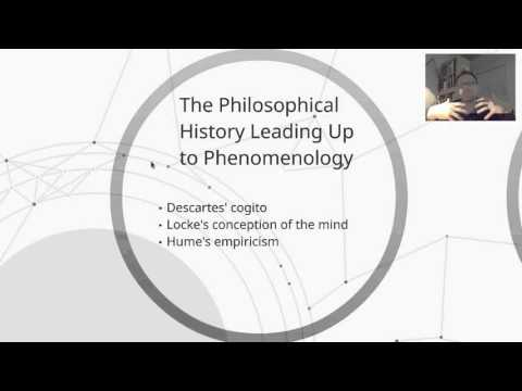 Introduction to Phenomenology Part I