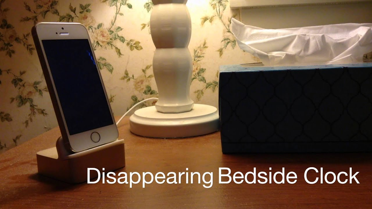 Disappearing Bedside Clock app for iOS Tap your nightstand to see