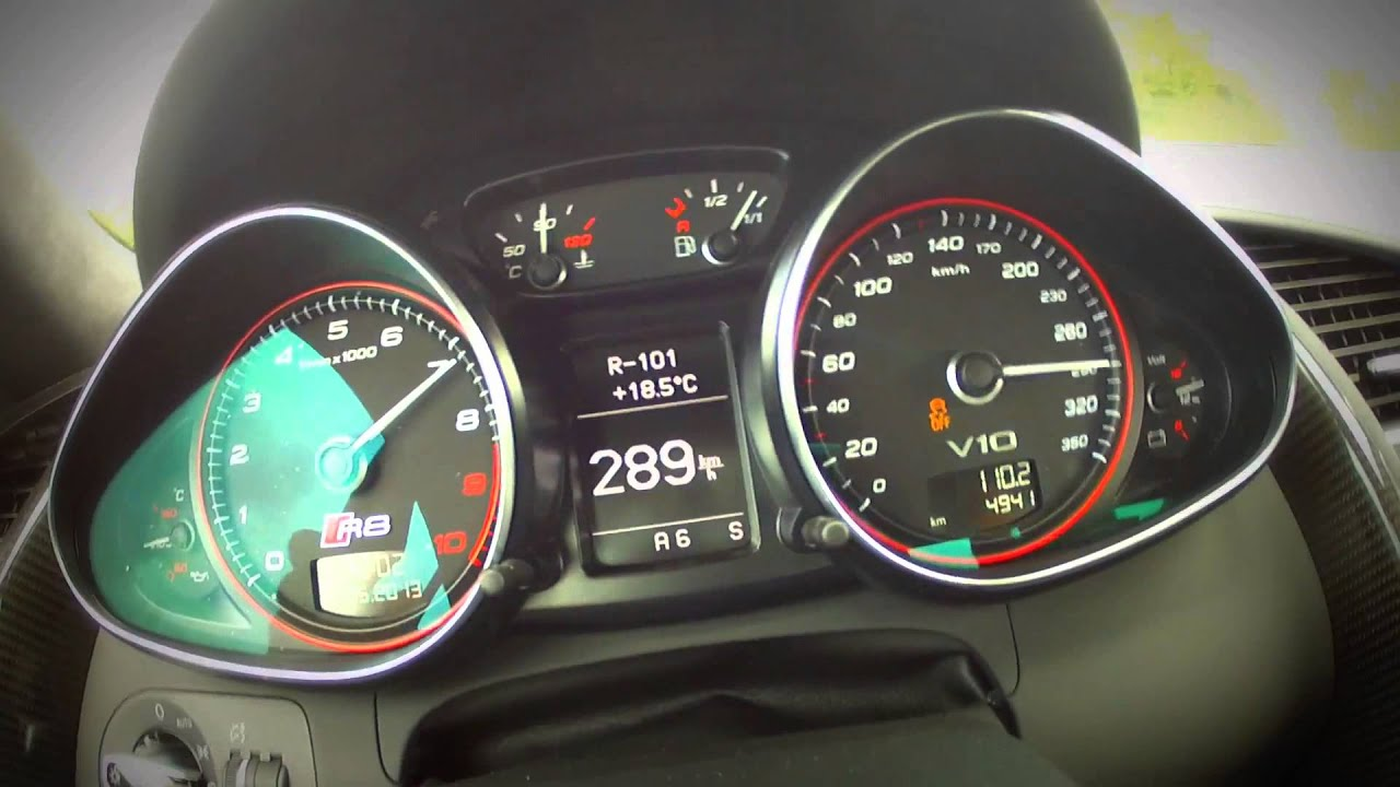 Audi r8 v10 plus max speed