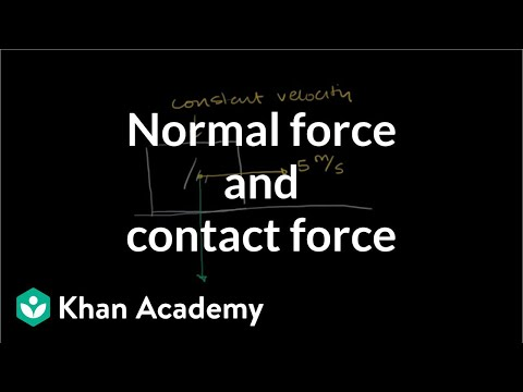 Normal force and contact force | Forces and Newton's laws of motion | Physics | Khan Academy