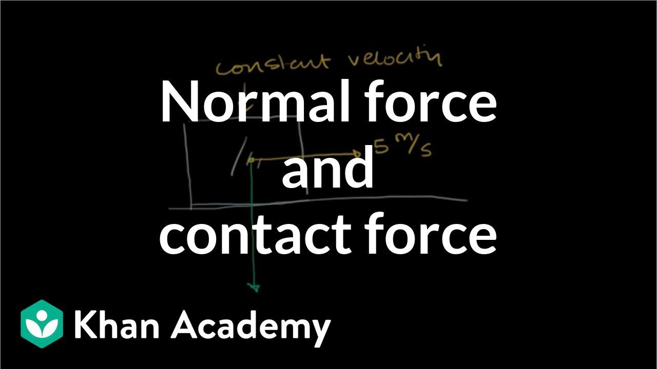 Normal force and contact force (video) | Khan Academy