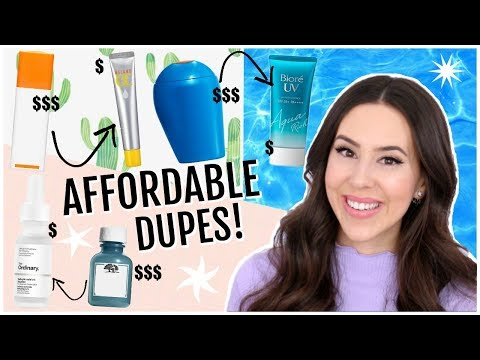 Affordable Skincare Products I Like Better Than High End! || Best Cheap Skincare Dupes thumbnail