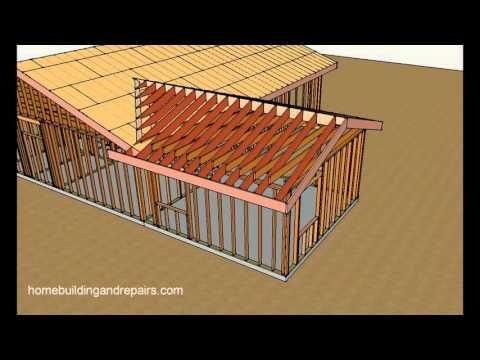 how-to-attach-home-addition-roof-framing-to-existing-sloping-roof