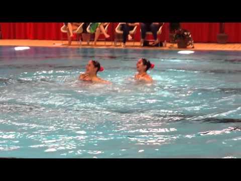 Duo ma tre 20 29 gala nage synchro caem no l 2015 youtube for Piscine edouard montpetit