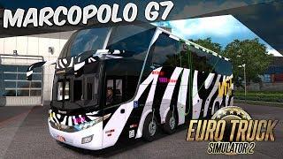 EURO TRUCK SIMULATOR 2 - MOD: Marcopolo G7 + todas as Skins de Ônibus Brasileiros V1.28