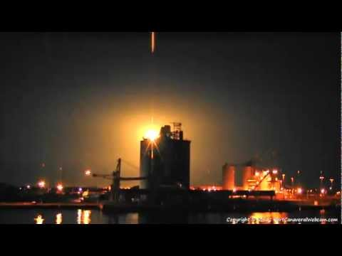 SpaceX Falcon 9 Launch on Port Canaveral Webcam - 5/22/2012