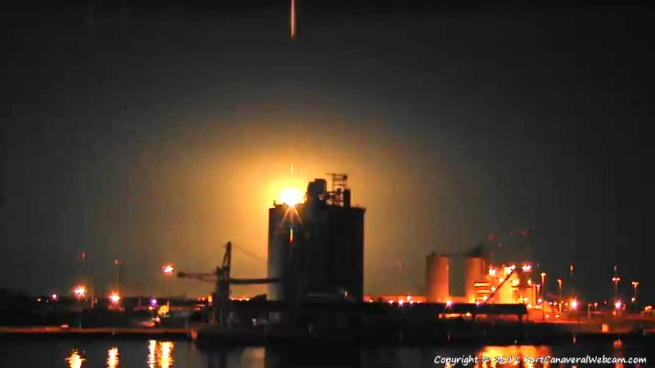 spacex falcon 9 launch on port canaveral webcam 5 22. Black Bedroom Furniture Sets. Home Design Ideas