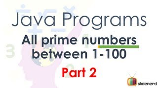 #40 Java Program Prime Numbers Part 2 Code [HD 1080p]