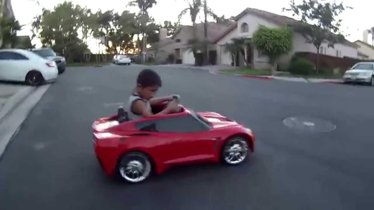 Wheels Corvette Stingray 12v Battery Car