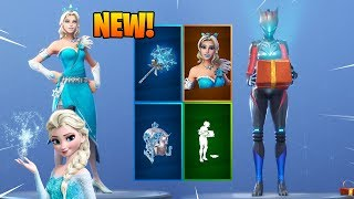 *NEW* FROZEN SKIN (GLIMMER) & UNWRAPPED EMOTE IN FORTNITE