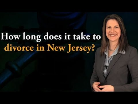 FAQ: How long does it take to divorce in New Jersey? - YouTube