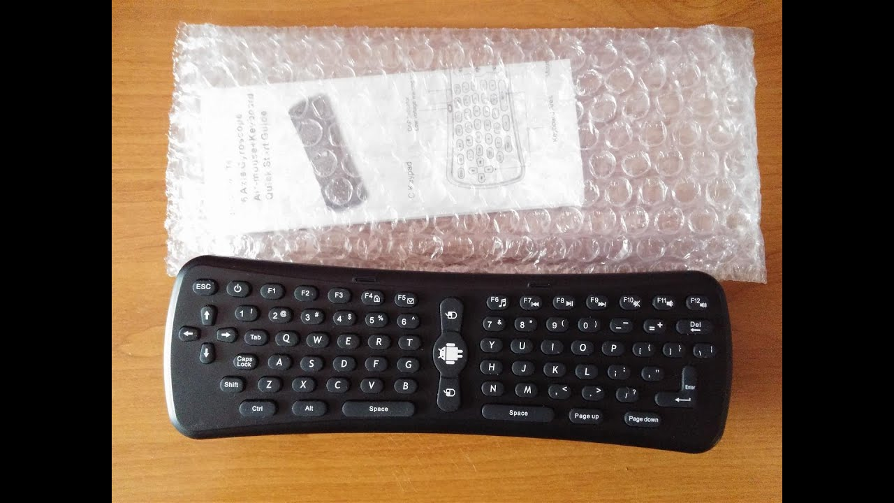 92651ac8dcc Air mouse Fly mouse T6 remote control unboxing review recenzja PL ...