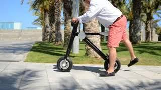 Högteknologisk hopfällbar elmoped med toppfart 25 eller 35 km/tim. ...