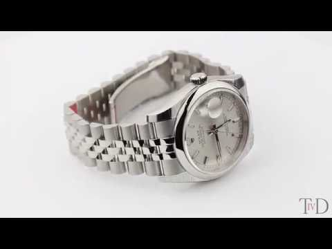 Rolex DateJust 36mm Silver/Index Jubilee 116200  (T4D) watch review
