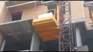 видео Подъемник строительный мачтовый ПМГ 1500