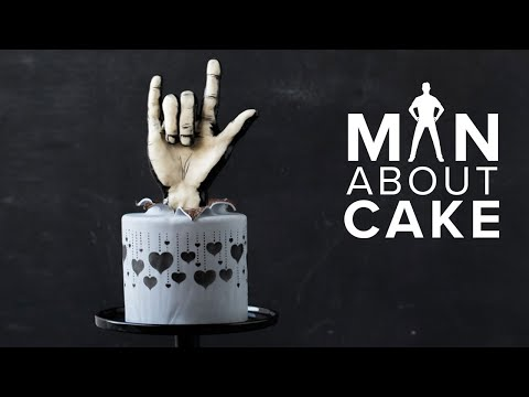 ROCK ON! Anti-Valentine's Day Cake | Man About Cake Modeling Chocolate Sculpting