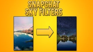 How to Use Snapchat Sky Filters! (Snapchat Tips and Tricks)