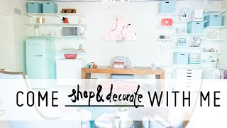 Come Shop & Decorate a Colorful Office with Me! | Interior Design Transformation | Mr Kate