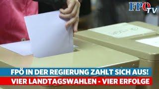 FPÖ in der Regierung zahlt sich aus: Vier Landtagswahlen - Vier Erfolge