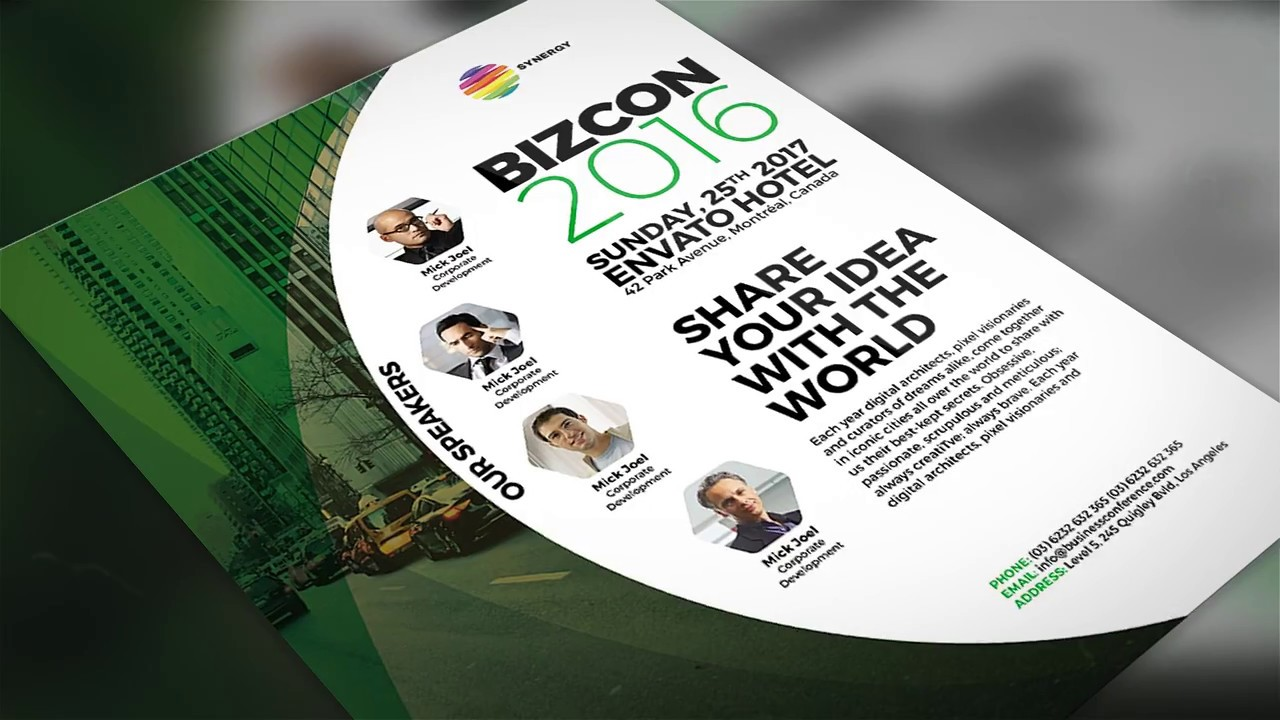 Business Conference Flyer Template - YouTube
