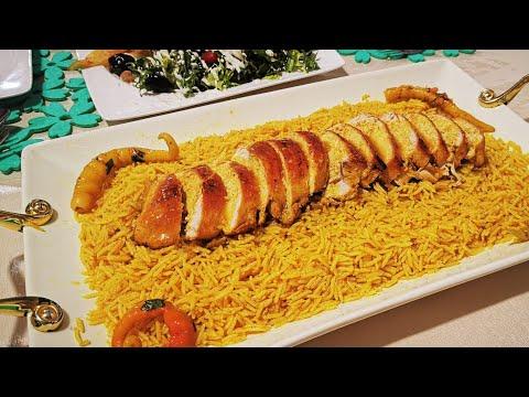 أرز المطاعم ♥️ روعة بتوابل سبيسيال❤️ طبق فخم يصلح للعزومات دايما مع يوميات مطبخ لجين