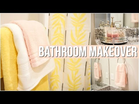 SMALL BATHROOM DECORATING IDEAS ON A BUDGET | BATHROOM MAKEOVER 2019