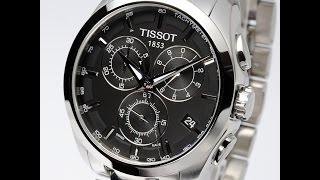 TISSOT WATCH T035.617.11.051.00 COUTURIER BLACK REVIEW MENS ティソ クチュリエ ブラック レビュー メンズ 腕時計
