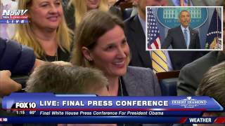 WOW: Reporter Asks Obama a PERSONAL Question to Wrap Up FINAL Press Conference as President - FNN