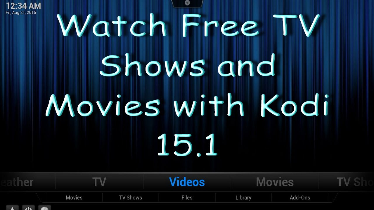 money saving tips how to watch free movies and tv shows with kodi 15 1 youtube. Black Bedroom Furniture Sets. Home Design Ideas