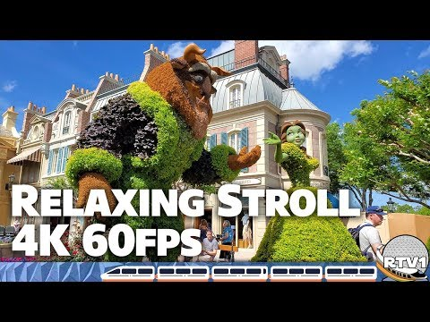 Epcot Flower & Garden Festival 2019 - World Showcase Relaxing Stroll Part 2 - Walt Disney World