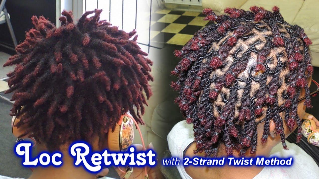 571  Loc Retwist with 2Strand Twist Method  Style Demo