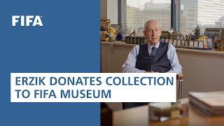 Şenes Erzik donates collection to FIFA World Football Museum