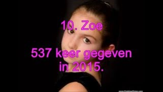 Top 10 Populairste Meisjesnamen