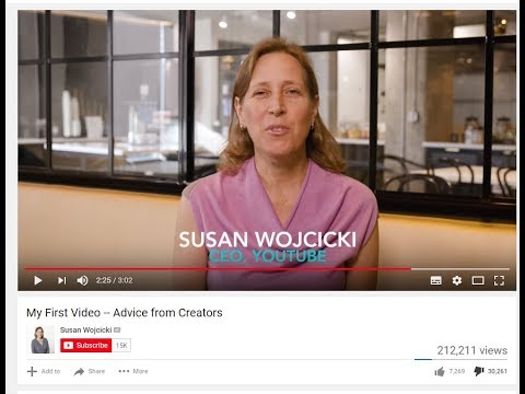 Susan Wojcicki - Advice from Creators (Deleted Video, Temporary Upload, Download Now)