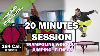 20 minutes trampoline session June 2020 - Jumping® Fitness [VOICE CUEING]