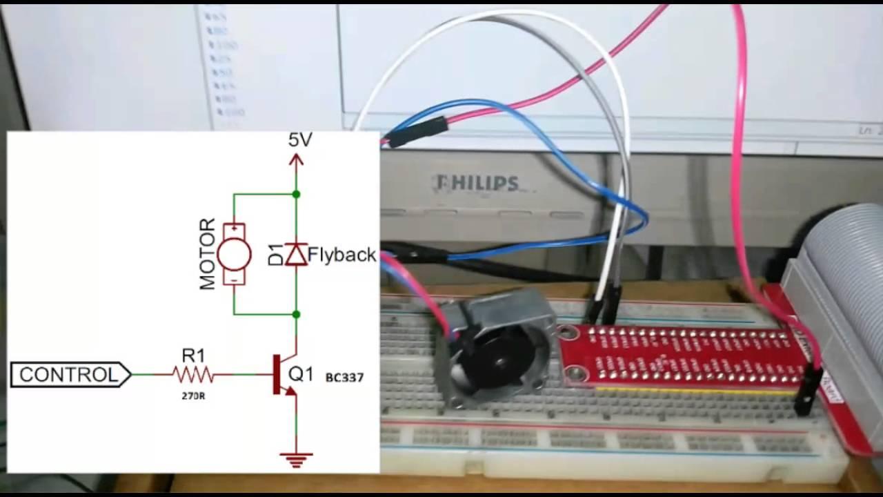Raspberry Pi 2 PWM İle Fan Kontrol (python v3)